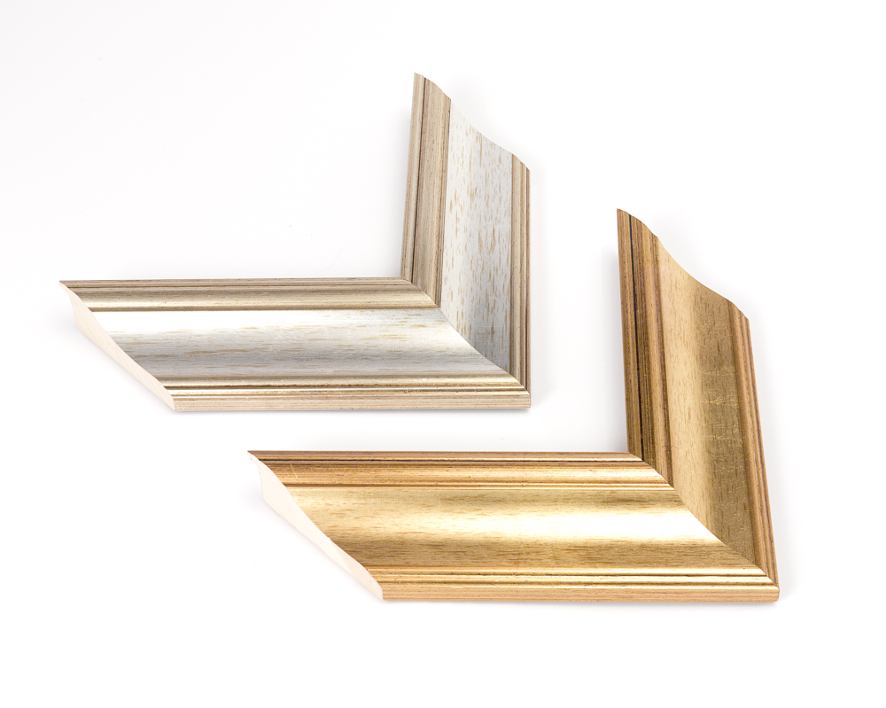 L012 Antique Gold Leaf 70x31mm L206 Antique Silver Leaf 70x31mm
