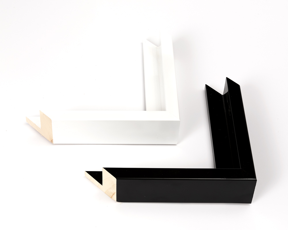 L2112 Gloss Black 42mm rebate 19x50mm L2112 Gloss White 42mm rebate 19x50mm
